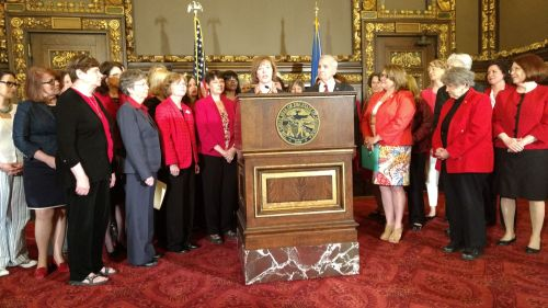 Tina Smith and DFL women leg